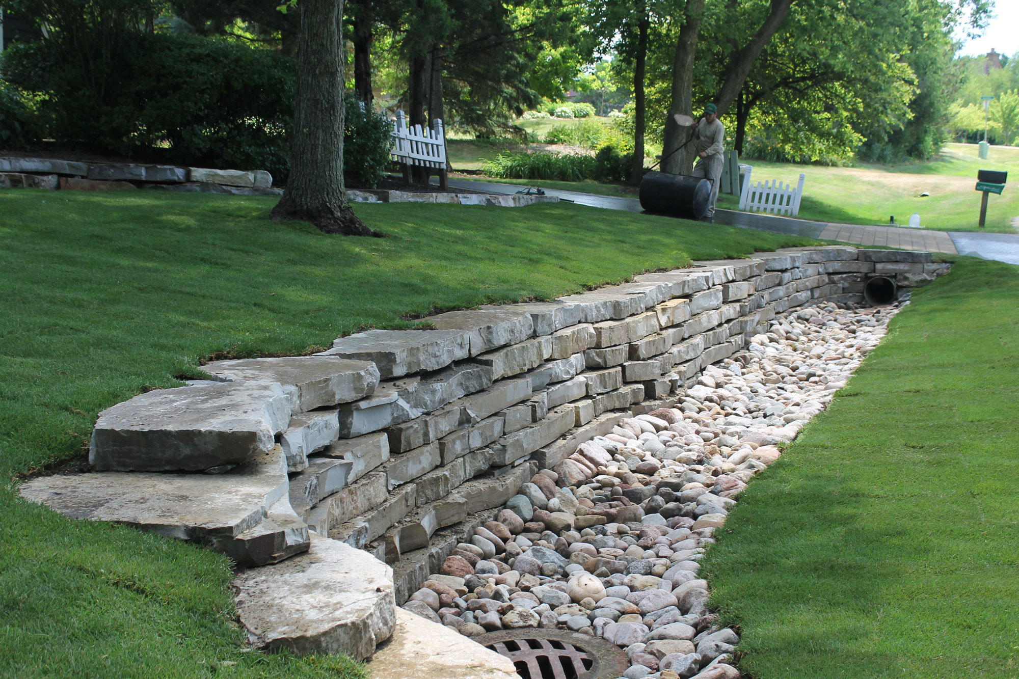 Nl Group Natural Stone Outcropping Landscape Barrington