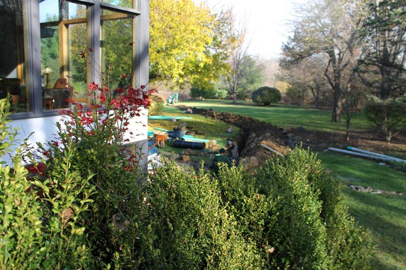 drainage-regrading